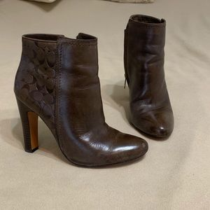 COACH Leather boots 7.5